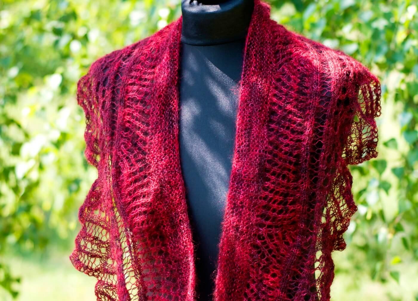Silk Mohair Handgefärbt Strickwerkstatt